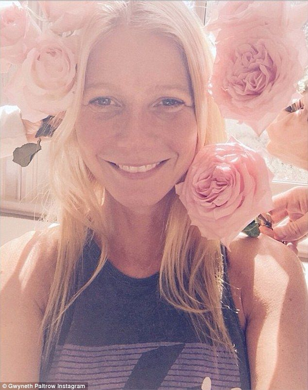 Gwyneth Paltrow celebrates her 42nd year with a bouquet of roses