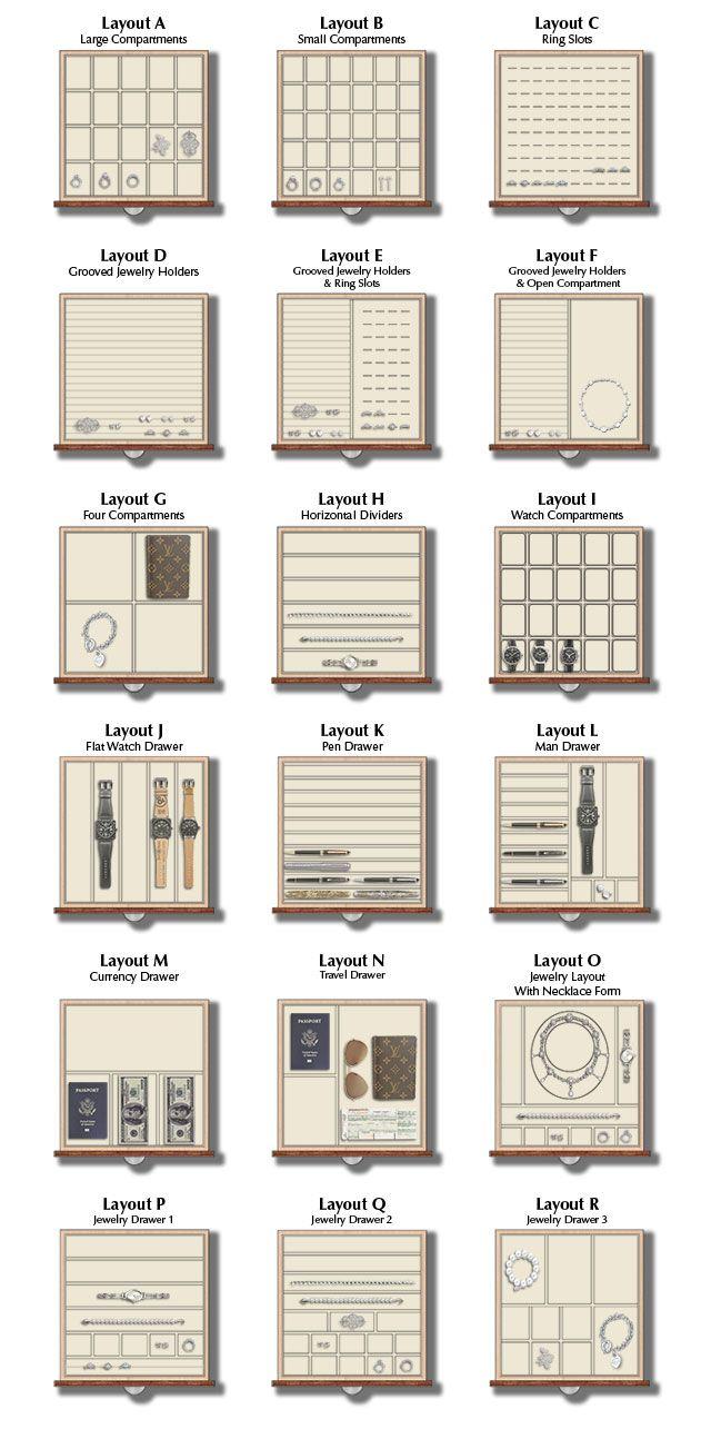 jewelry Drawer Layouts