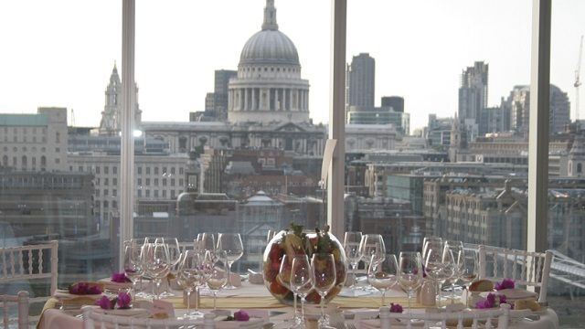 View from the Tate Modern restaurant