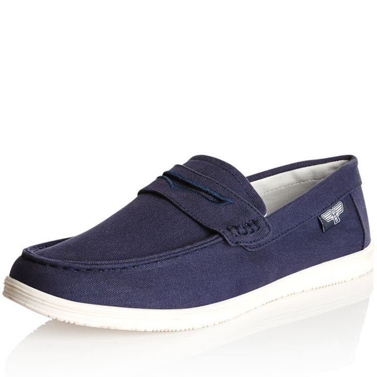 7345MCAS - Rivers Australia. Cooper Canvas Penny  NOW $20.00 (24.12.15) (WAS $45.00) 7345MCAS in Indigo  Canvas penny features a canvas upper, cushioned footbed for comfort, and textured tread.  MATERIAL(S):  SIZE CHART  RETURNS AVAILABLE IN: 6, 7, 8, 9, 10, 11