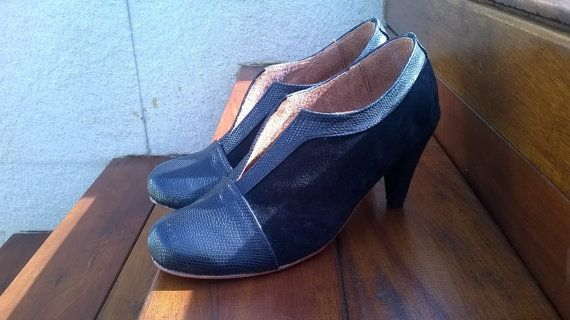 Mira este artículo en mi tienda de Etsy: https://www.etsy.com/es/listing/190764818/high-heel-leather-shoes-handmade-women