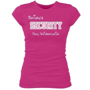 Bride 39 S Security Bachelorette Party T Shirt Already