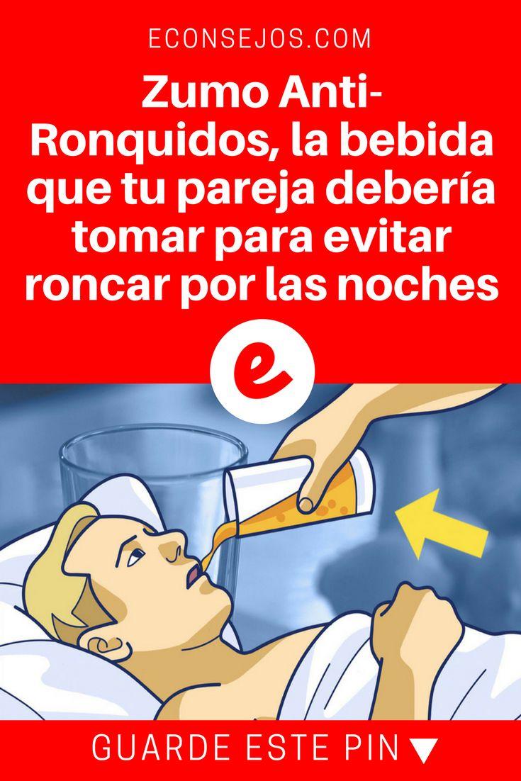 Evitar roncar | Zumo Anti-Ronquidos, la bebida que tu pareja debería tomar para evitar roncar por las noches | 4 Ingredientes para preparar el zumo que evita los ronquidos por las noches.