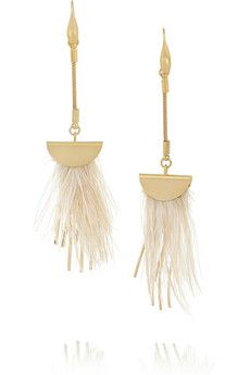 Isabel Marant Gold-plated feather earrings | NET-A-PORTER
