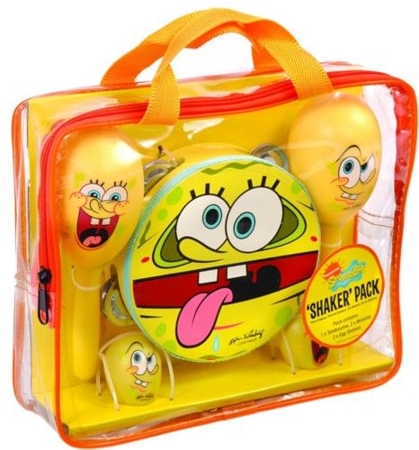 SpongeBob SquarePants: Shaker Pack - includes Tambourine, Maracas, and Egg Shakers. £19.99