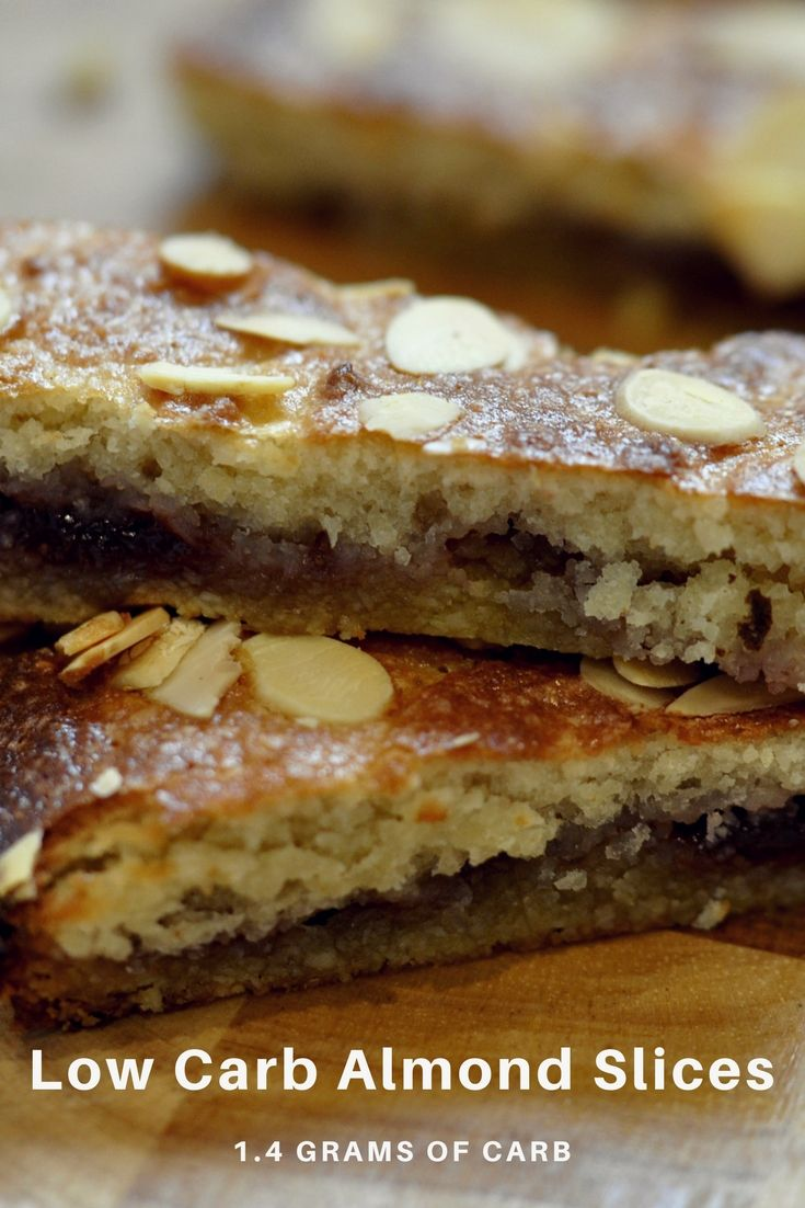 Low Carb Almond Slices