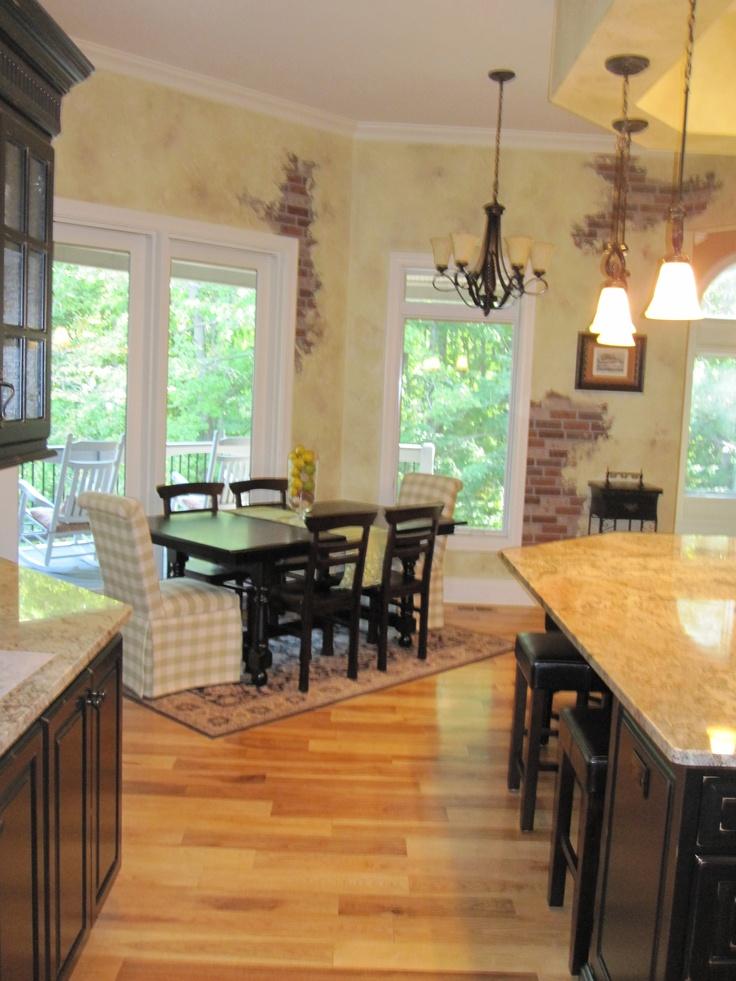 Kitchen Black cabinets, light granite  Kitchen  Pinterest