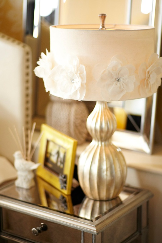 Pier 1 Hayworth Rosette Lamp creates a romantic glow