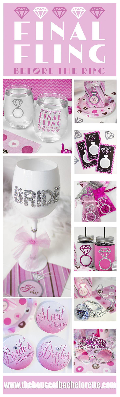 This Super Pretty Bachelorette Party Theme will thrill Brides who want Bachelorette Party Ideas that won't make grandma blush :)