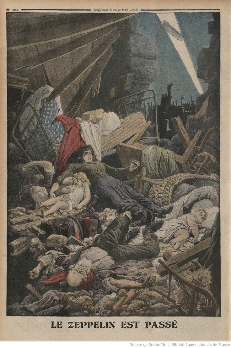 Back cover of the Feb 13 1916 Le Petit journal - The Zeppelin has passed