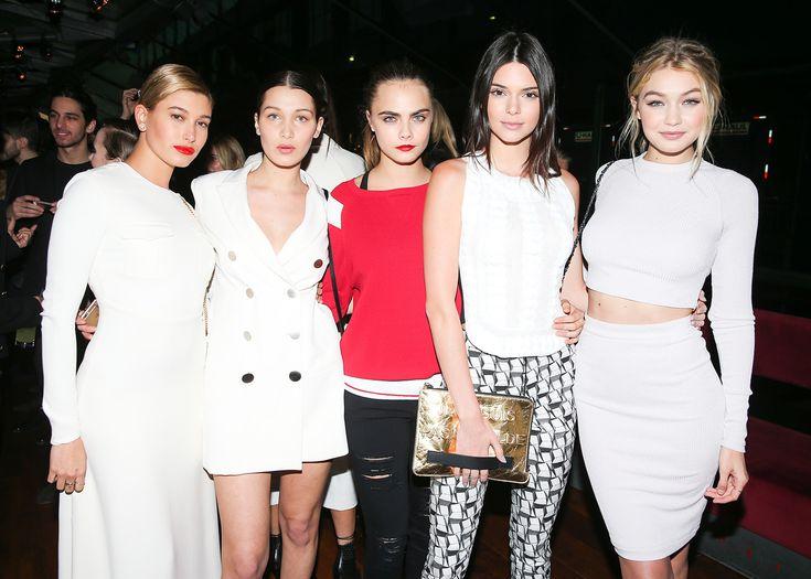 Hailey Baldwin, Bella Hadid, Cara Delevingne, Kendall Jenner and Gigi Hadid