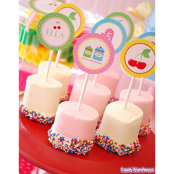 These are so cute!    Pastel Pink Big Fat Giant Marshmallows: 25CT Bag