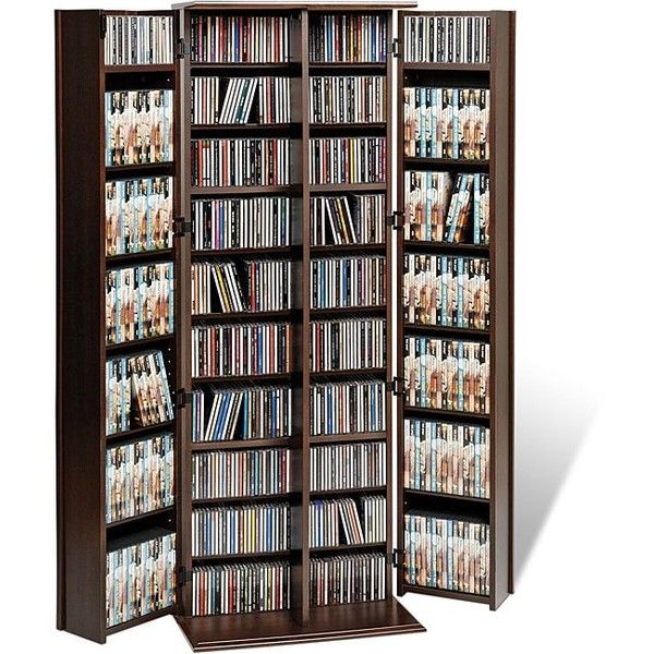 Prepac Everett Espresso Large Deluxe CD/ DVD Media Storage ($224) ❤ liked on Polyvore featuring home, furniture, storage & shelves, entertainment units, brown, cd storage shelves, media cabinet, storage shelving, media storage cabinet and dvd storage shelf