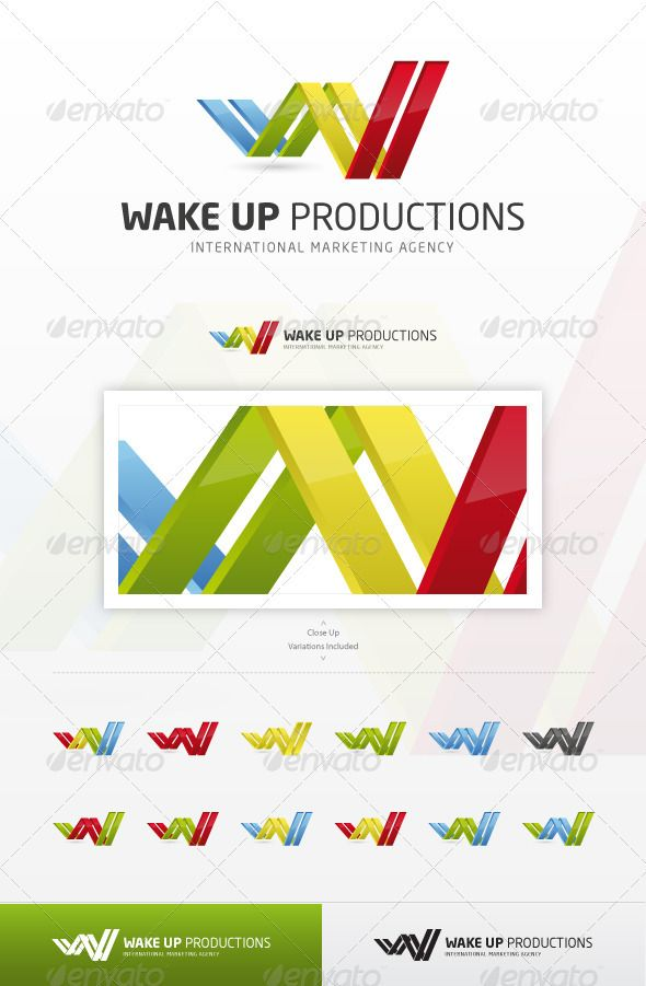 Wake Up Productions - Abstract Logo Template Vector EPS, Vector AI. Download here: http://graphicriver.net/item/wake-up-productions/1113415?s_rank=57&ref=yinkira
