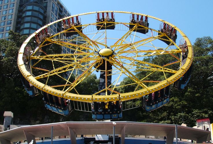 The UFO is an amusement park ride designed by HUSS Maschinenfabrik in 1978, based on the company's Enterprise and Skylab amusement rides. Numerous carnivals feature this ride which is known as Alpha One Peeters and Vertical Limits.