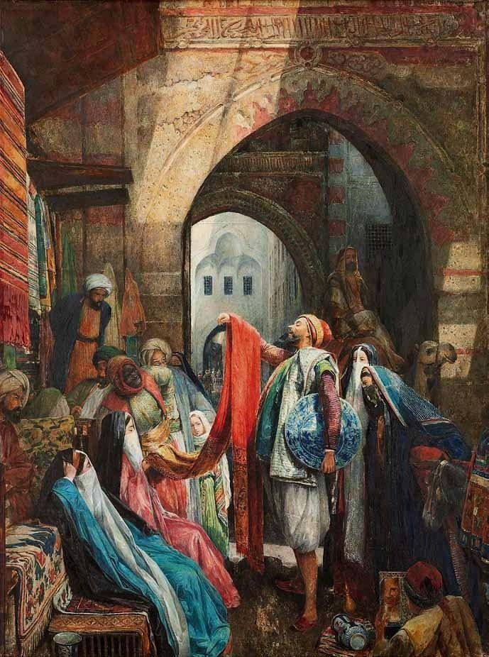 Cairo Bazaar The Dellál - John Frederick Lewis