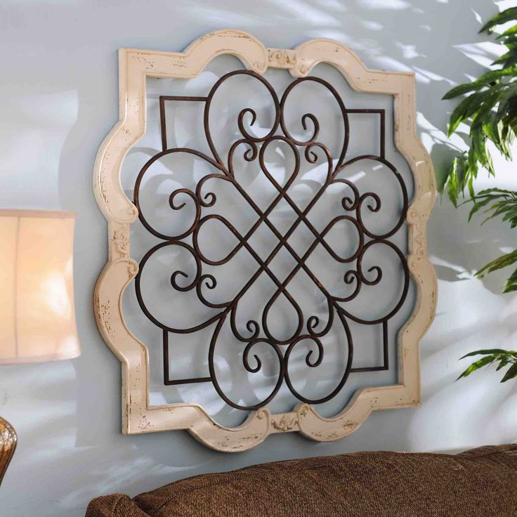 Scroll Design Wall Decor : Wood isabelline plaque blank white scroll design and