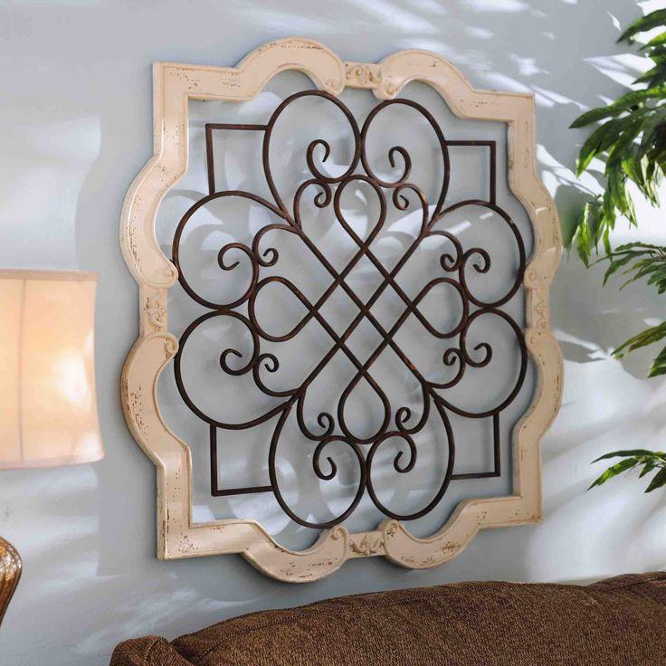 Wood Isabelline Plaque Decor Iron Decor Tuscan Decorating