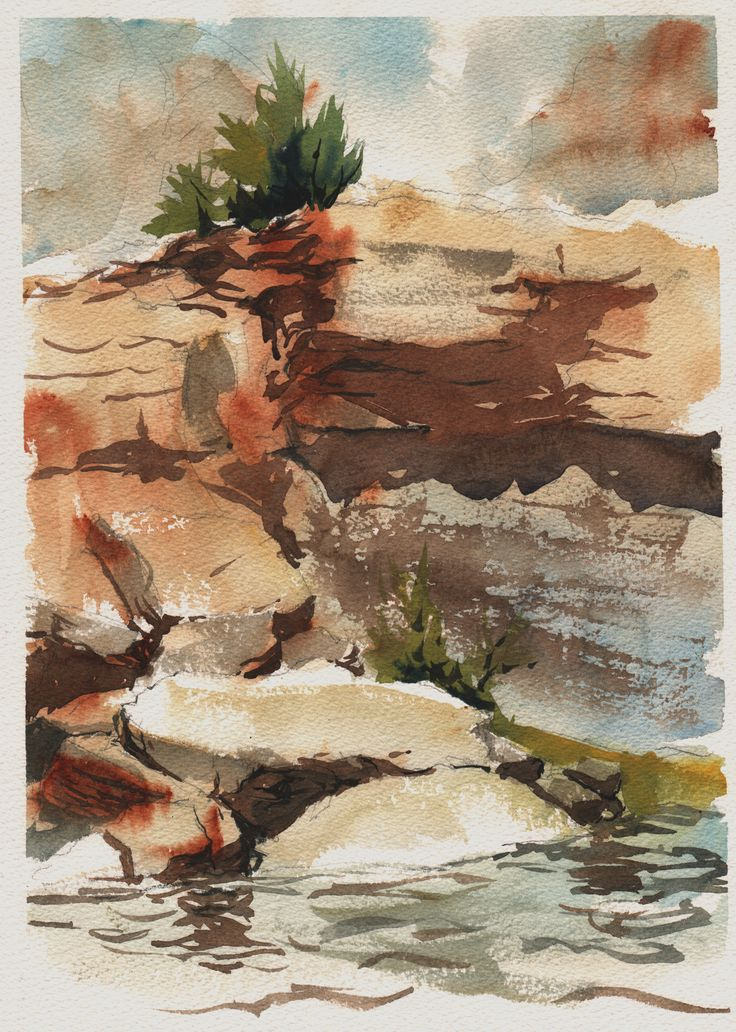Falling Plein air watercolor, Watercolor paintings, Painting