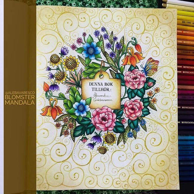 Acabei De Terminar A Abertura Do Meu Blomster Mandala Blomstermandala Flower MandalaAdult ColoringColoring BooksMandala
