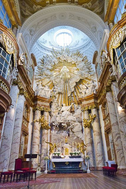 262 best german baroque architecture images on pinterest for Baroque style church