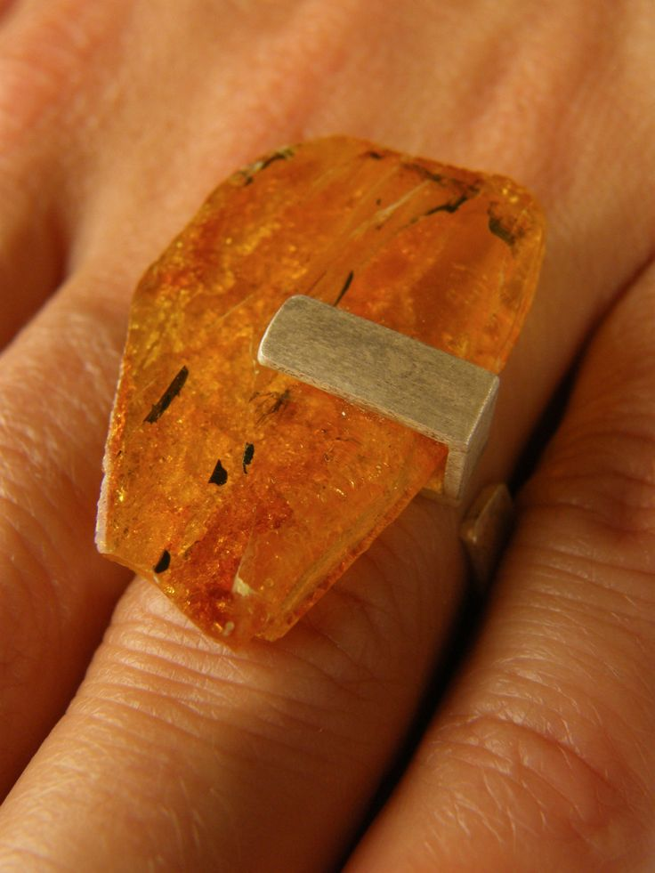 Amber Ring, Silver 925,HONEY,  baltic amberstone, Unique NEW by JewellryWithSoul…