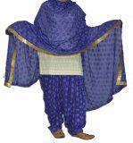 PHULKARI Embroidered Patiala Salwar with matching Dupatta PHS26