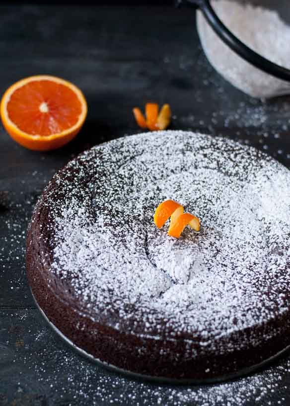 Nigella's Flourless Chocolate Orange Cake   Neighborfoodblog.com