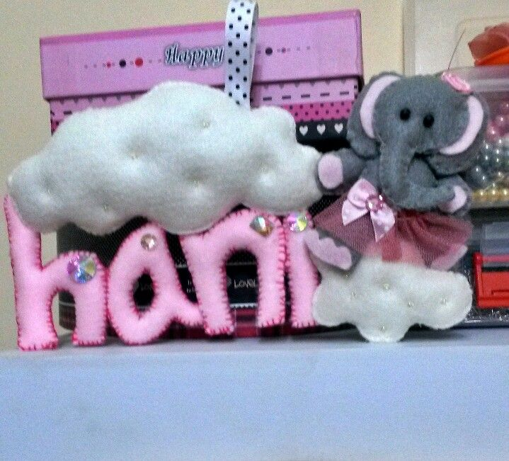 Felt banner elephant