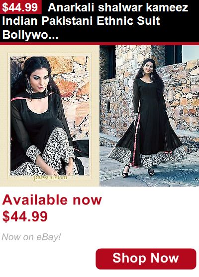 Cultural and ethnic clothing: Anarkali Shalwar Kameez Indian Pakistani Ethnic Suit Bollywood Party Wear Dress BUY IT NOW ONLY: $44.99