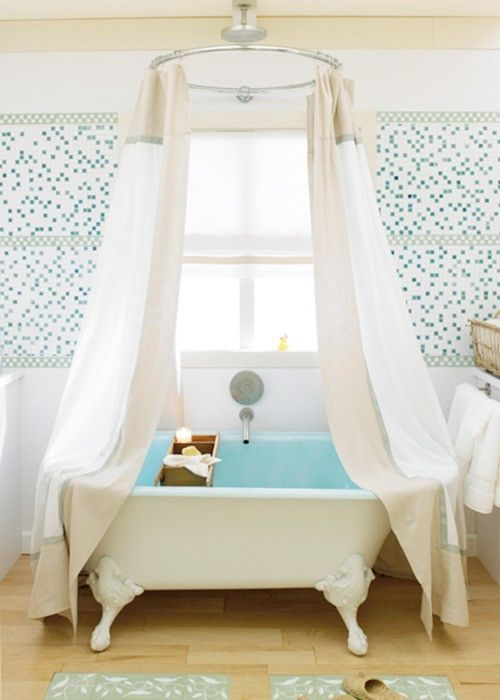 Curtains Ideas claw foot tub shower curtain : 17 Best ideas about Clawfoot Tub Shower on Pinterest | Clawfoot ...