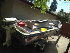 14' Misty River aluminum fishing boat Calgary Alberta image 1