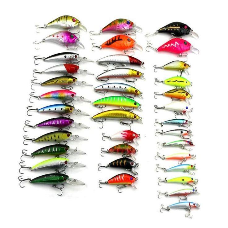 37pcs/lot Fly Fishing Lure Set Fishing Bait Jia Lure Wobbler Carp different Models Fishing Tackle wholesale#W21