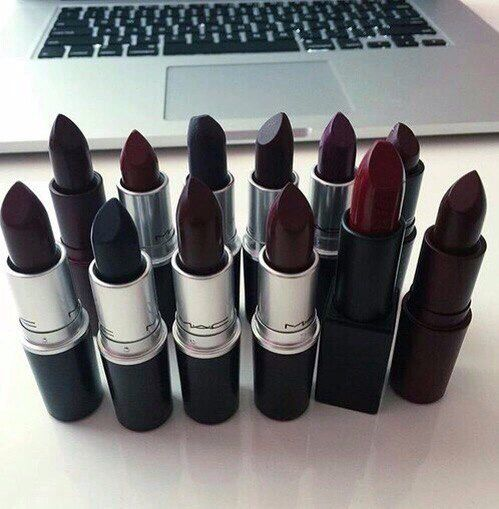 Living the dream. A girl can never have too many dark lipsticks