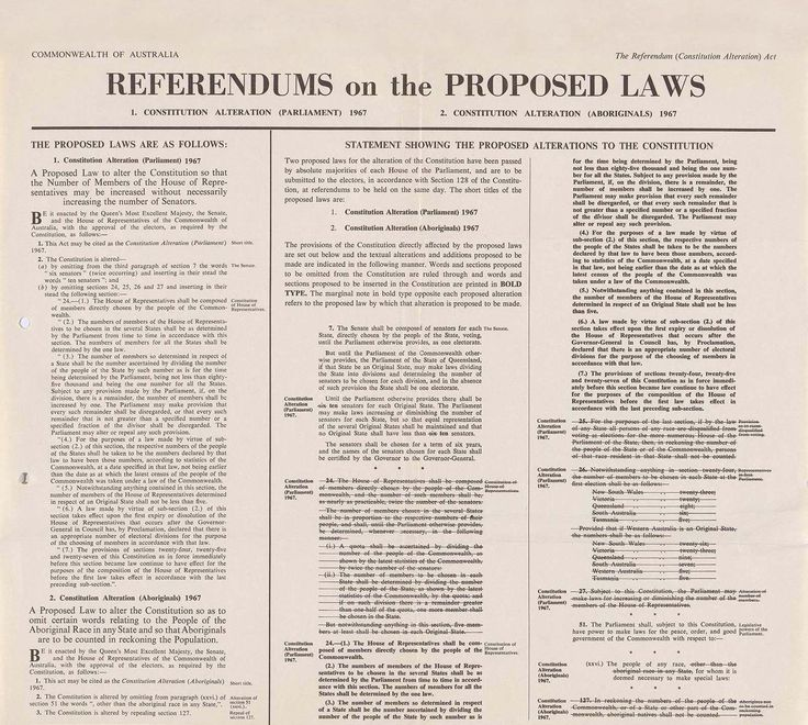 An archival news article about the proposed laws for the referendum