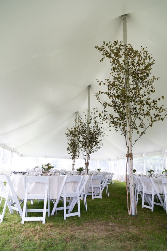 Rent a tent to create your perfect garden wedding reception. We offer pole tents in a variety of sizes. We are also your one stop shop rent your tables and white garden chairs as well. Call today for your personal quote.