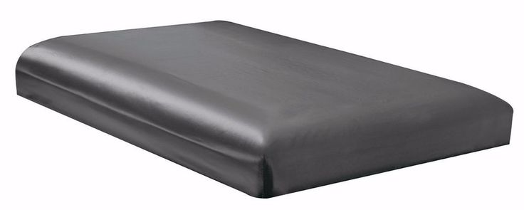 FULL size Solid Dark Grey Satin Bridal Fitted Bed Sheet -B0722GSKD6 #PacificDecor #Contemporary