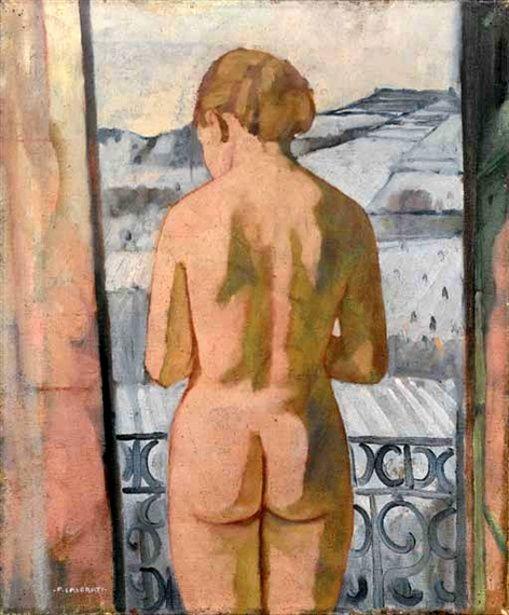 Felice Casorati (1883-1963, Italy) - Donna alla finestra