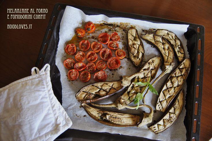 Polpa di melanzane e pomodorini confit Puoi vedere la ricetta cliccando qui (http://noodloves.it/recipe/esplosione-di-risotto-speziato-polpa-di-melanzane-e-pomodorini-confit/)