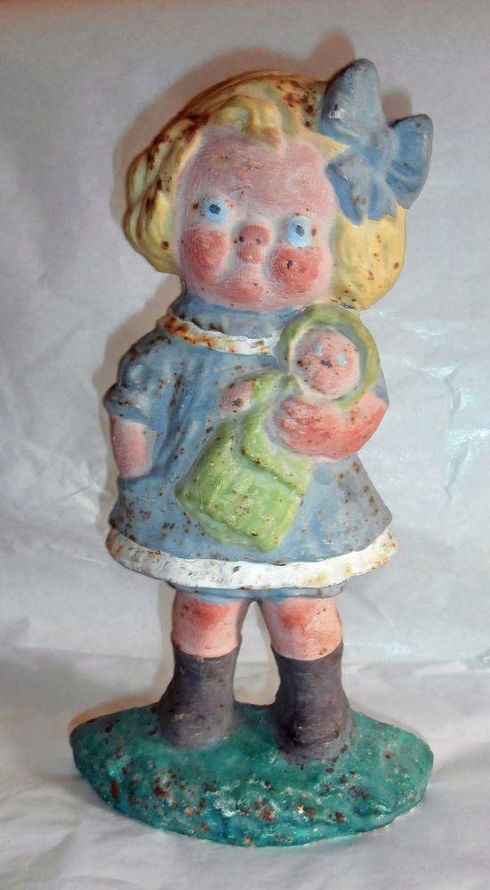 estatesal /RARE ANTIQUE HUBLEY DOLLY CAMPBELLS SOUP KID GIRL CAST IRON DOOR  STOP - 122 Best Antique Cast Iron Door Stops Images On Pinterest