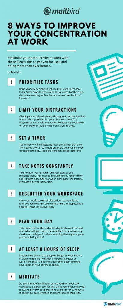 How do you stay focused and productive at work?