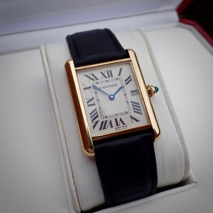 Cartier TANK Louis 18ct SOLID Gold 2441 Full Size 18k Deployment Clasp 750 in Jewellery & Watches, Watches, Parts & Accessories, Wristwatches | eBay