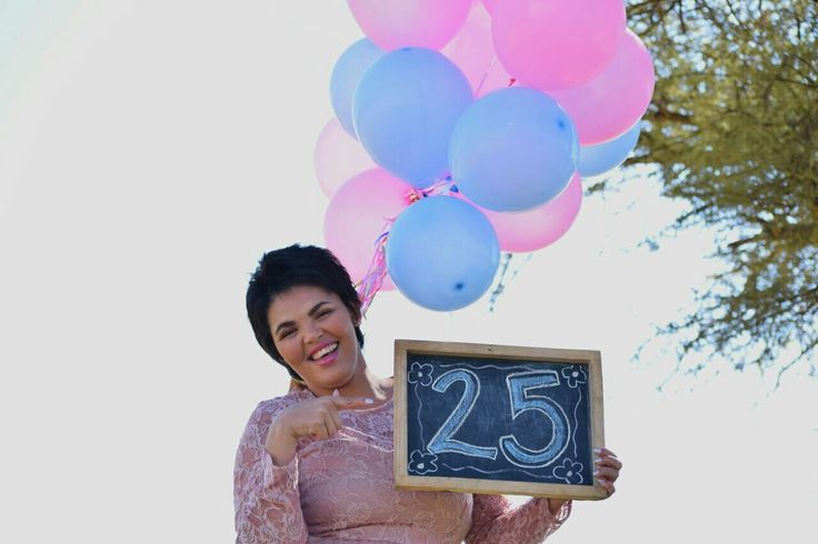 25th Birthday Photoshoot  Blue and Pink Balloons Tulle and lace dress #celestedqstarr  Photo by PhotoJeni'Q