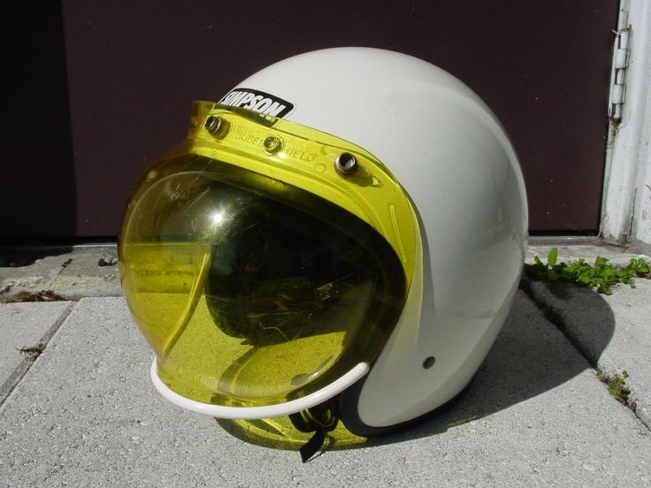 VINTAGE HIDE-OUT: 1980's Simpson Helmet with Bubble Shield