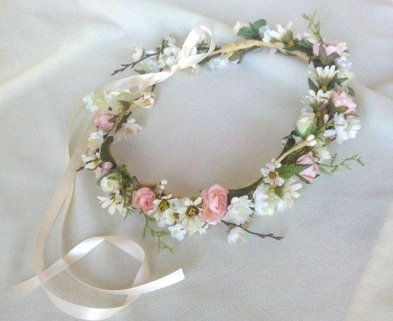 Bridal Flower crown Summer Breeze wildflower by AmoreBride on Etsy