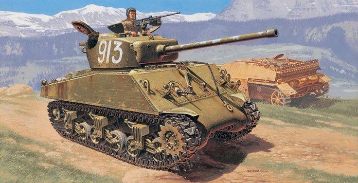 "Italeri M4A2 76 mm ""Wet"" Sherman 6483 1/35 New Military Plastic Model Kit"