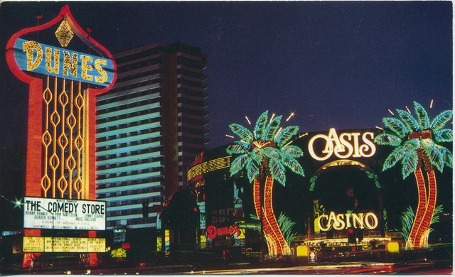 Las Vegas - stayed at the Dunes Hotel.. enjoyed watching it's live demo on TV years later!!