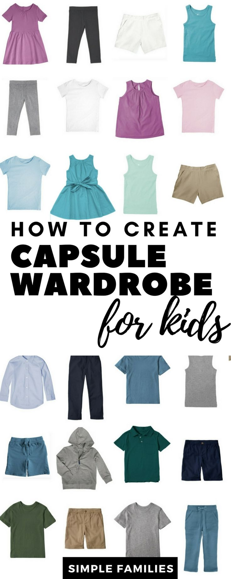 How to Create a Basic Capsule Wardrobe for Kids