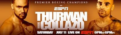 """Will Keith """"One Time"""" Thurman get past Luis Collazo on July 11, 2015?  http://www.potshotboxing.com/?p=6389"""