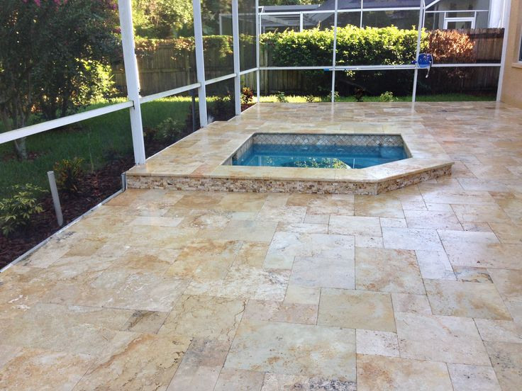 Find This Pin And More On Travertine Pools U0026 Patios By Travertinetiles.